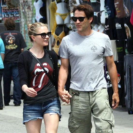 Stephen Moyer and Anna Paquin Holding Hands Pictures