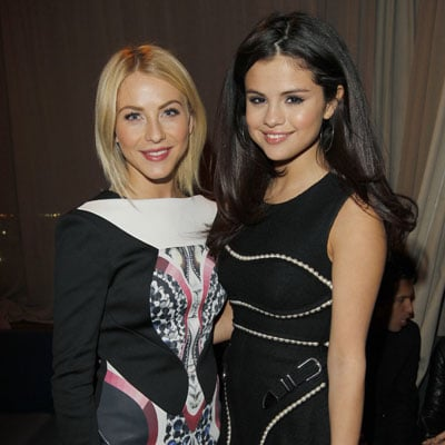 Selena Gomez Julianne Hough at British Fashion Council Party