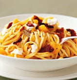 Today's Special: Linguine with Squash, Bacon, and Goat Cheese