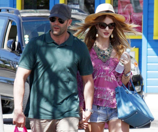 Slide Picture of Jason Statham and Rosie Huntington-Whiteley Shopping in St. Barts
