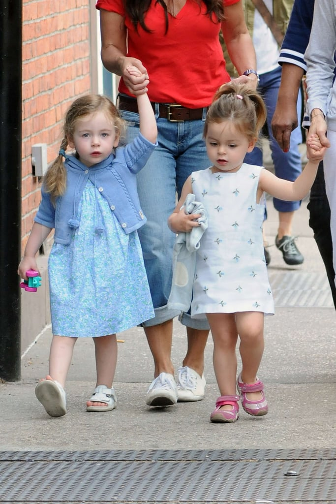 Sarah Jessica Parker's daughters Loretta Broderick and Tabitha Broderick had a day out in NYC.