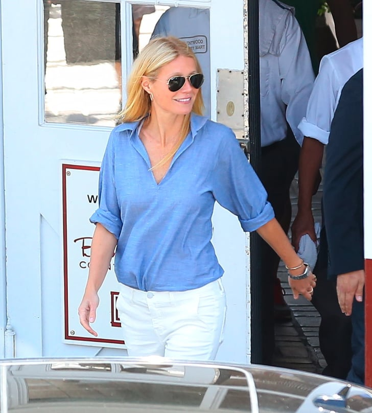 Gwyneth Paltrow Can't Stop Smiling as Her New Venture Comes to a Close