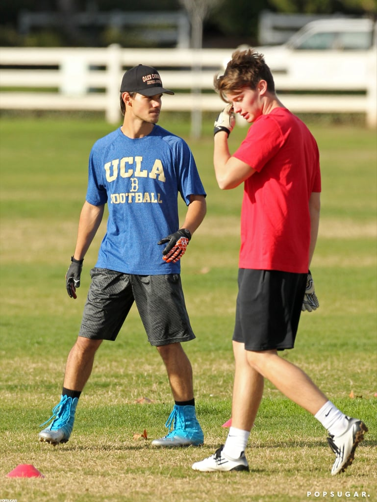 Taylor Lautner and Patrick Schwarzenegger played football together.