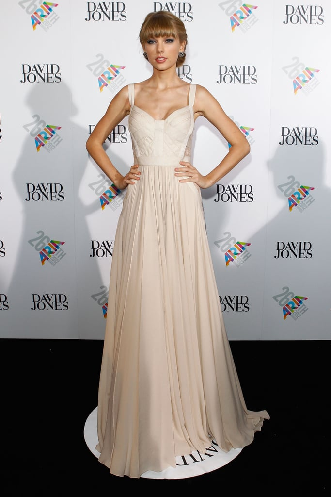 Taylor stunned in an Elie Saab gown at the ARIAs on Nov. 29.