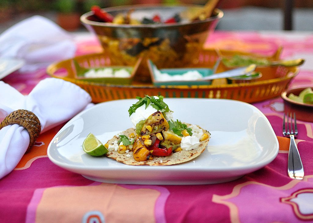 Vegetarian Tacos With Grilled Guacamole