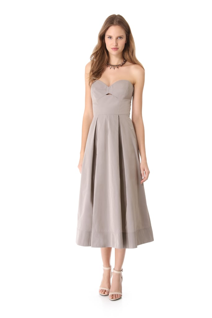 The sweetheart neckline on this subdued Robert Rodriguez midi ($495) is superflattering.