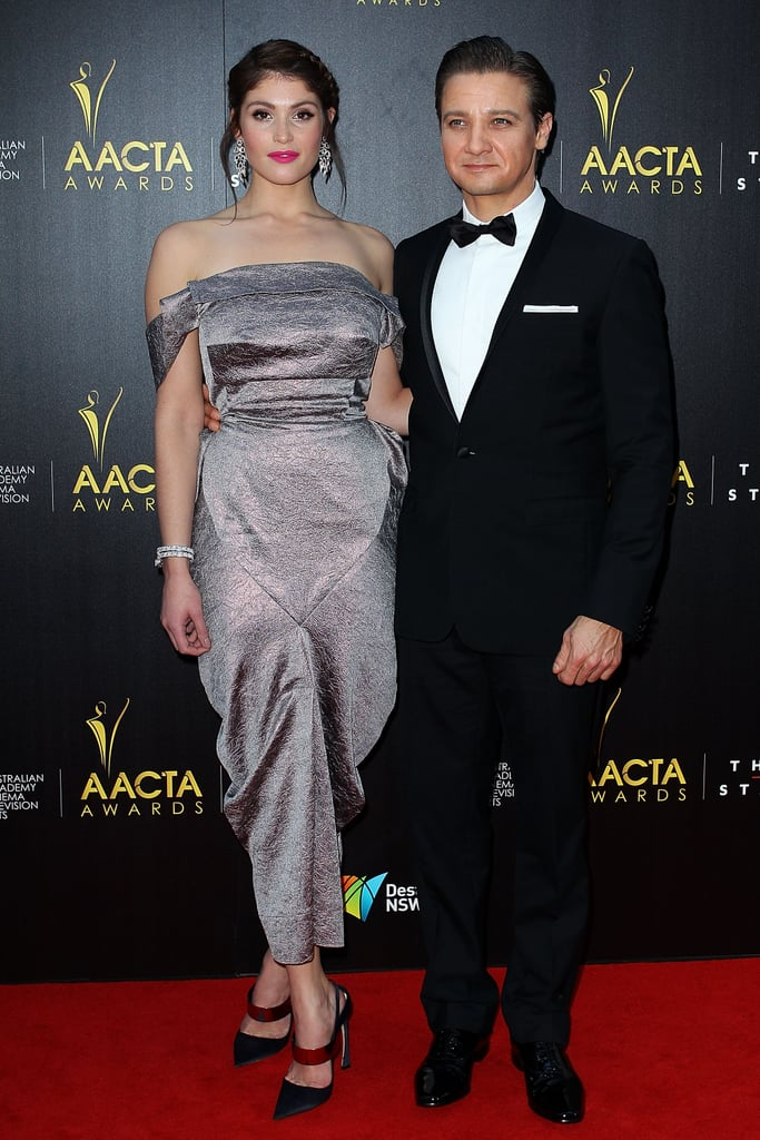 Jeremy Renner and Gemma Arterton attended the AACTA awards together.