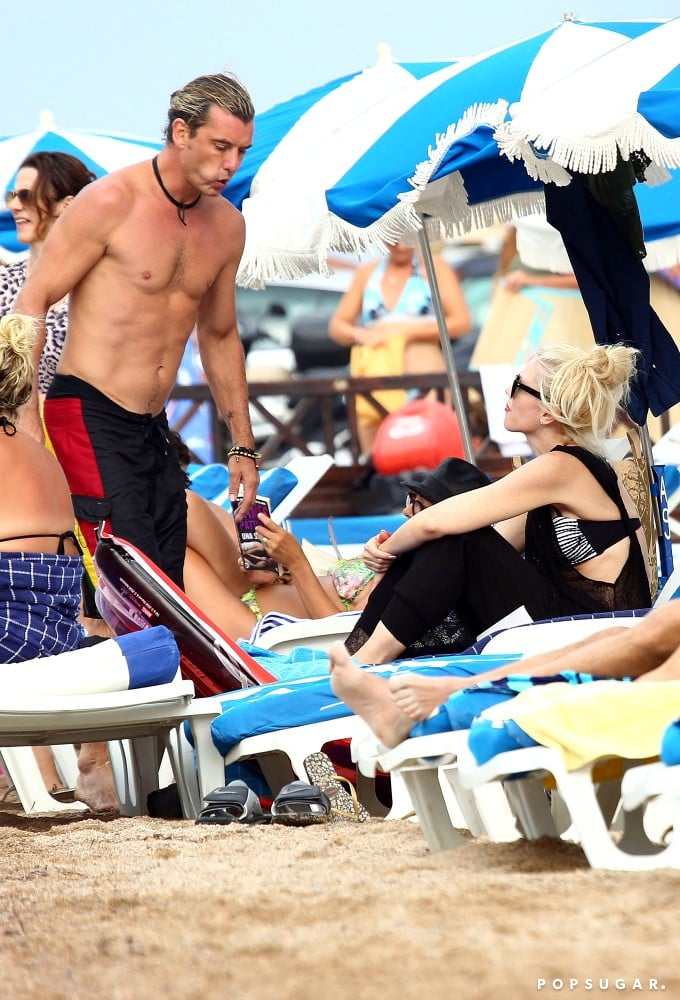 Gwen Stefani Stays Glam as Gavin Rossdale Goes Shirtless