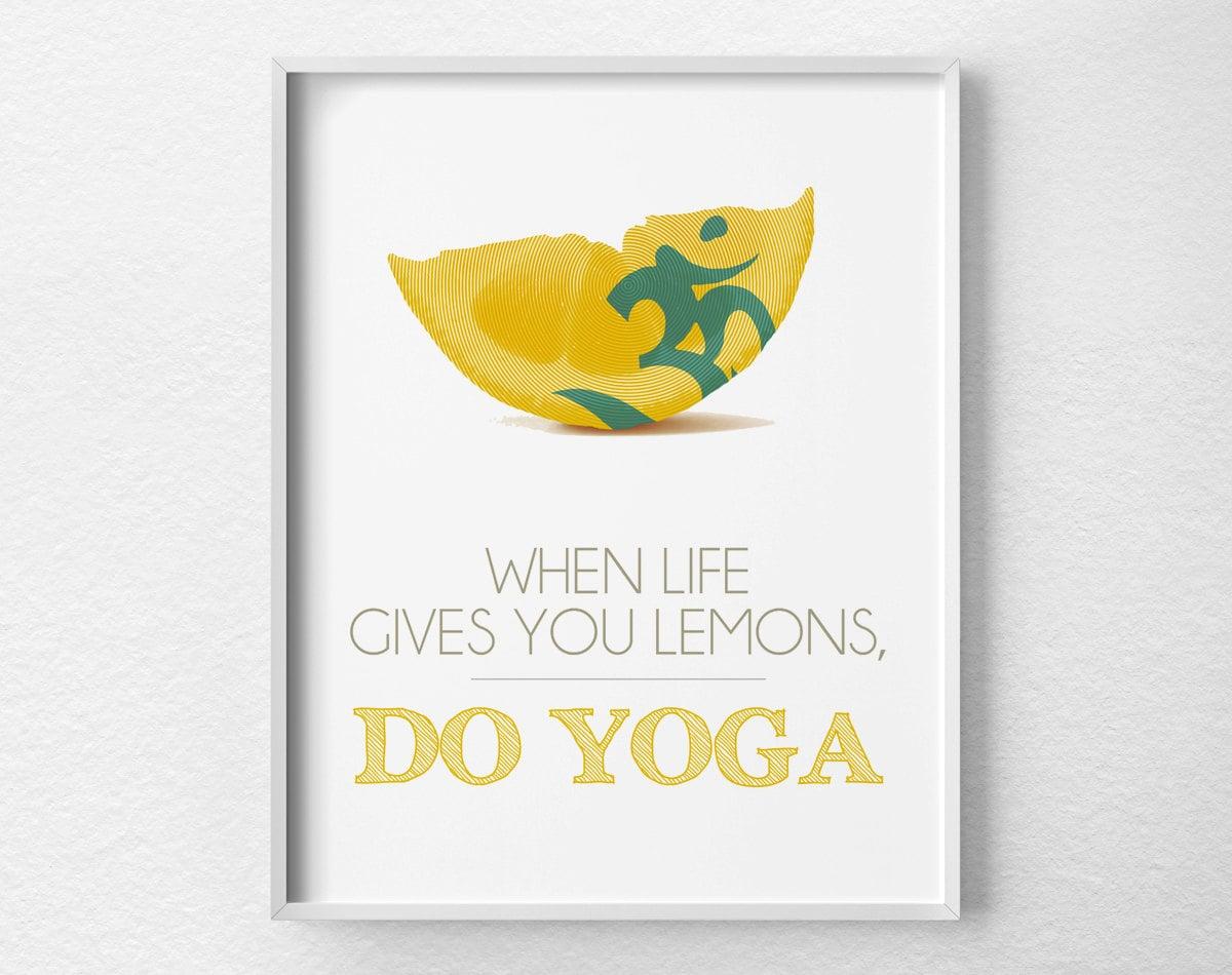 Inspirational Yoga Print