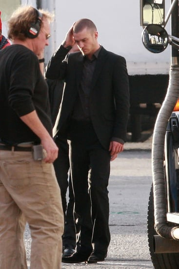 Pictures of Justin Timberlake on the Set of Now in Downtown LA 2011-01-06 09:57:00