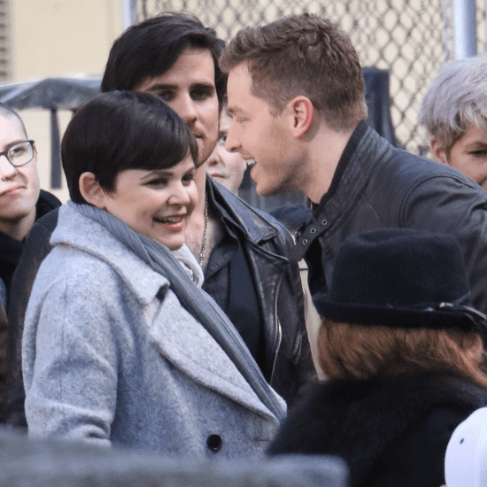 Ginnifer Goodwin and Josh Dallas on OUAT Set March 2016