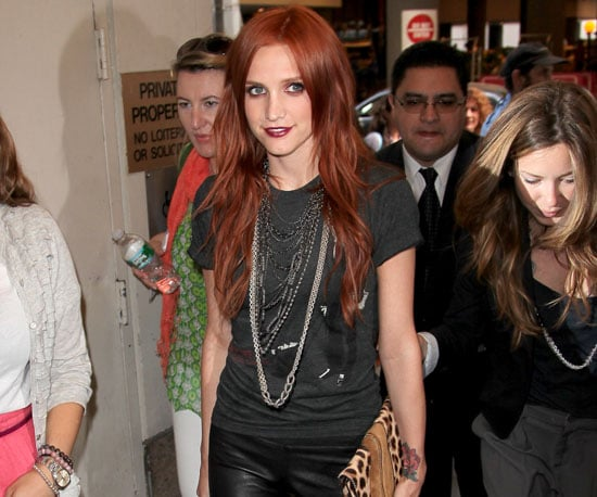 Photo Slide of Ashlee Simpson Going to It's On With Alexa Chung