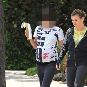 Pregnant Celebrity in Workout Clothing