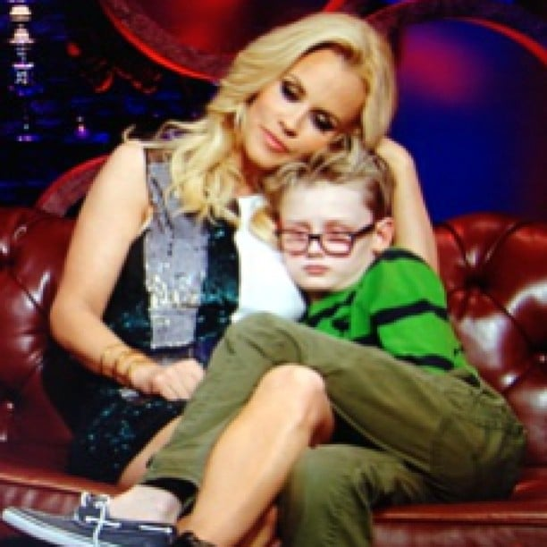 Jenny McCarthy snuggled with her son, Evan, while lamenting about her dating life. Source: Instagram user jennyannmccarthy