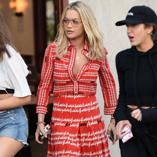 Rita Ora's Gucci Dress April 2016