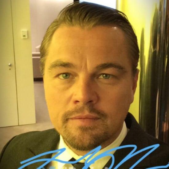 Leonardo DiCaprio Takes Selfie April 2016
