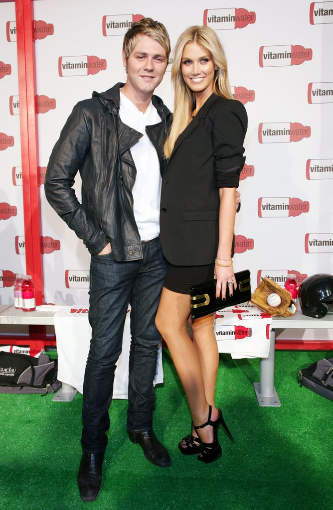 Brian and Delta partied together in New York in July 2008.