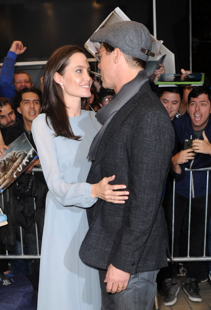 Angelina kept Brad close when they toured New York City in November 2015.