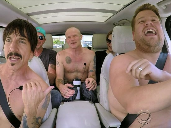 James Corden Goes Shirtless for New 'Carpool Karaoke' with the Red Hot Chili Peppers