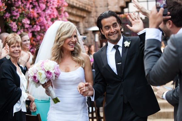 Julie Benz and Rich Orosco were glowing during their Cinco de Mayo wedding in Los Feliz, CA, in May 2012.  Source: Christine Chang Photography