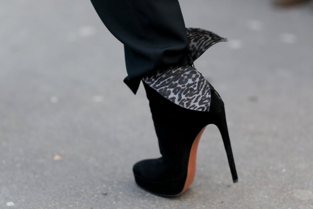 Talk about a sexy shoe — this one boasts a sky-high heel and leopard print.