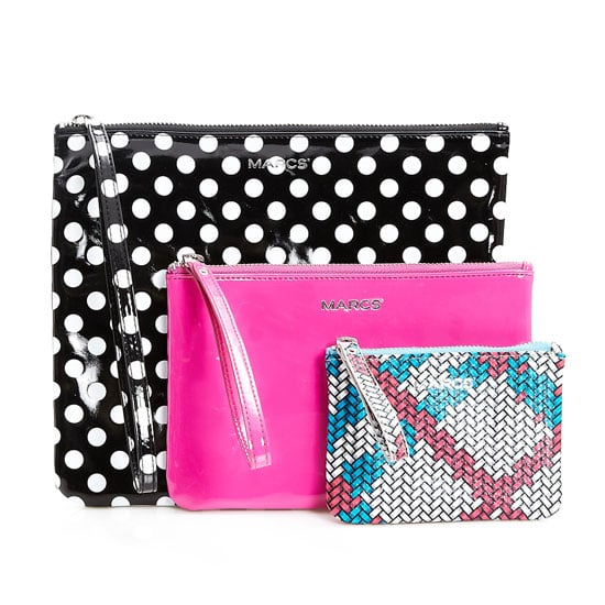 Zip pouches, $79 for set of three, Marcs