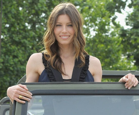 Slide Picture of Jessica Biel in Paris For the A-Team