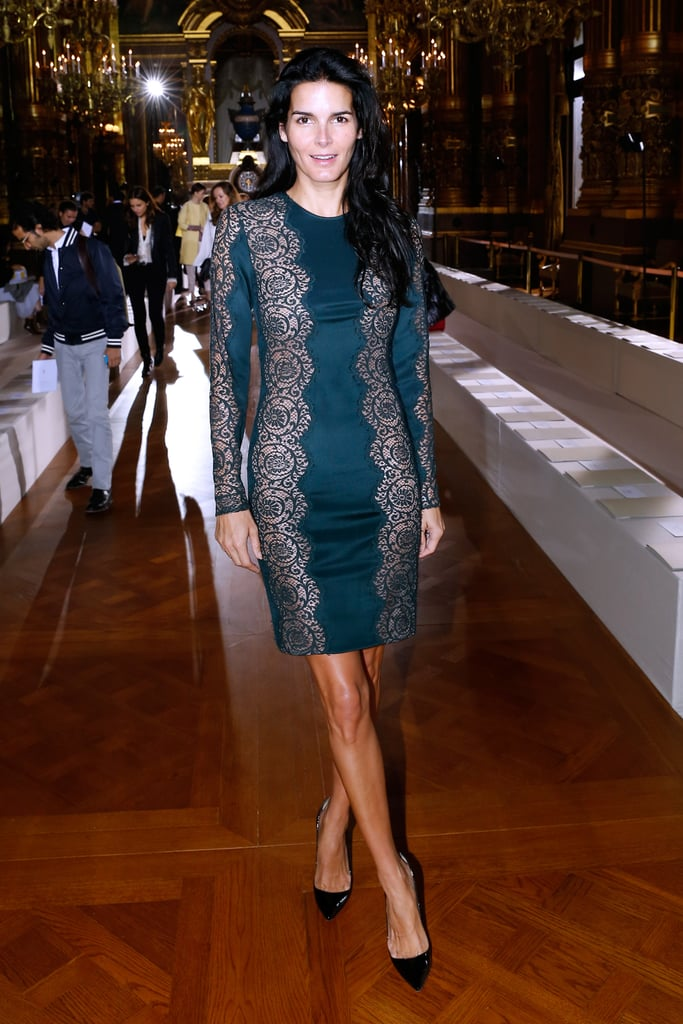 Angie Harmon looked glamorous on Monday when she attended the Stella McCartney show.