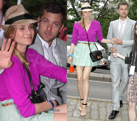 Diane Kruger Wears J.Crew and Lanvin Pumps to FOX Upfronts Announcement Event in NYC