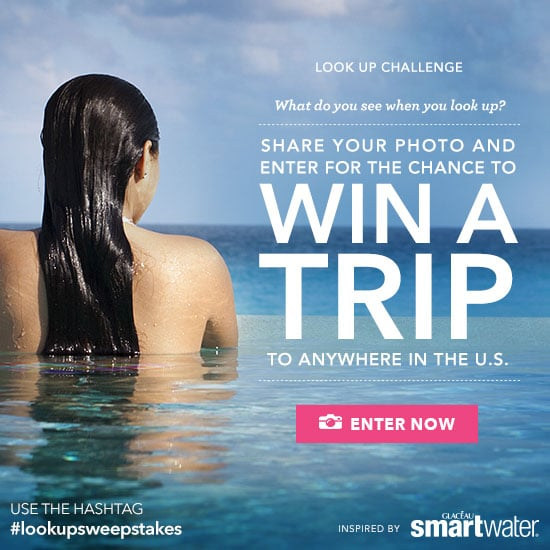 look up instagram challenge: win round-trip airfare for you and a friend to a destination of your choice