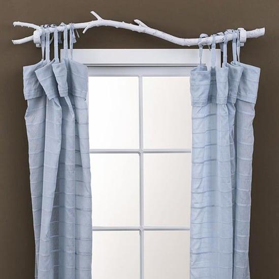 DIY: Tree Branch Curtain Rod