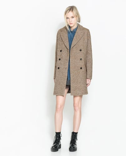 Masculine Coat With Checked Lining