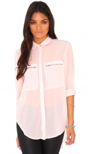 The zippered pockets make this MissGuided Gravila blouse ($33) a little edgier than most.