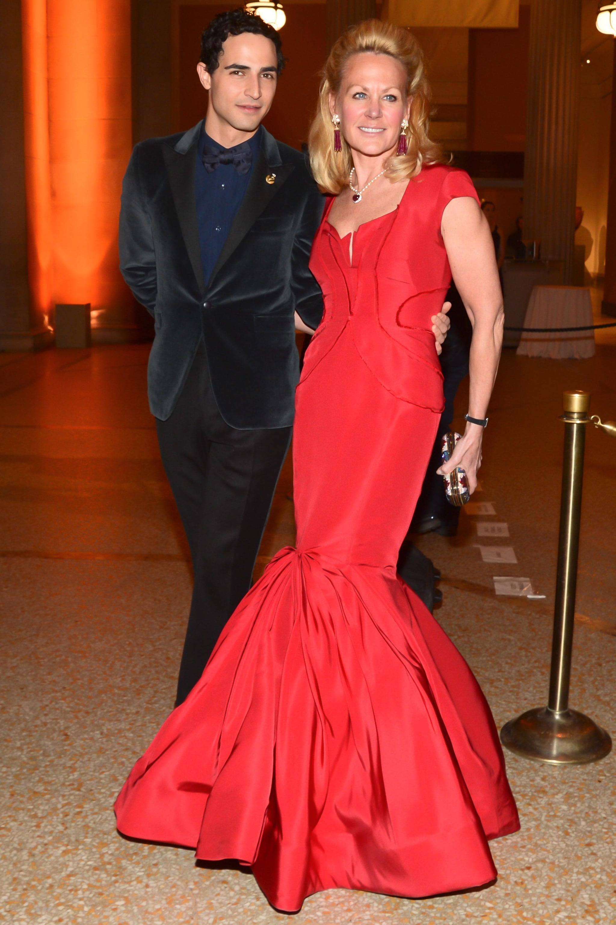Zac Posen and Muffie Potter Aston at The Society of MSKCC and Harry Winston's sixth annual Spring Ball in New York. Source: Joe Schildhorn/BFAnyc.com