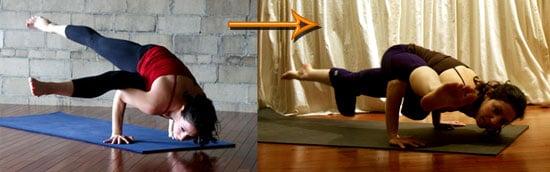 Yoga Video of Scissor Legs Side Crow to One-Legged Arm Balance