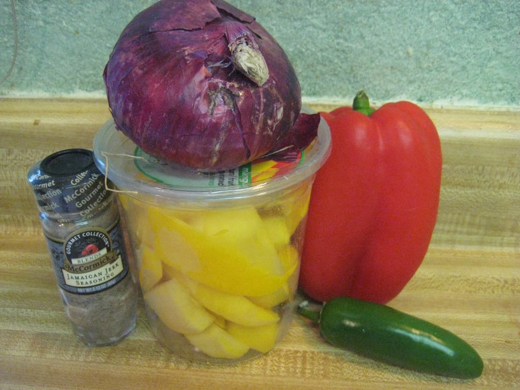 Look at the vibrant color of the salsa ingredients!