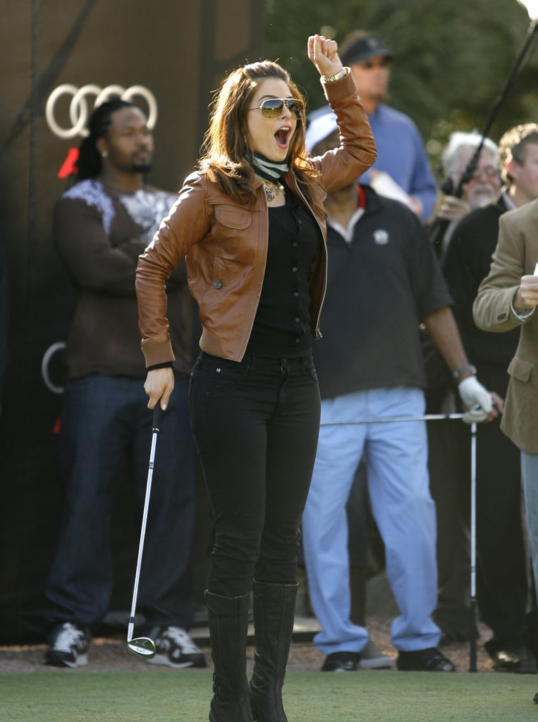 Teri Hatcher celebrated a shot in Phoenix, AZ, in January 2008.