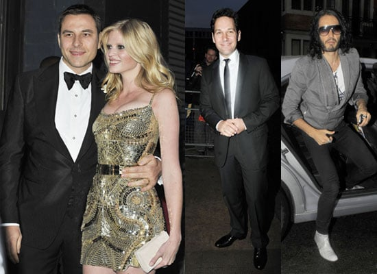 Pictures of David Walliams and Lara Stone's Wedding Celebrity Guests Russell Brand, Paul Rudd, Denise Van Outen, Aaron Johnson
