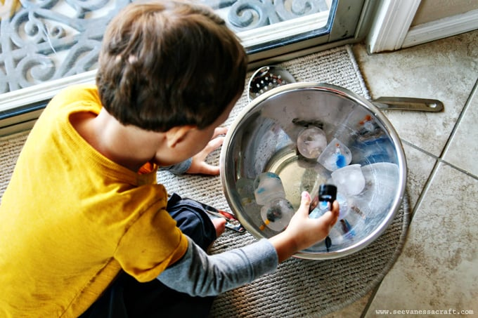Frozen Ice Sensory Play