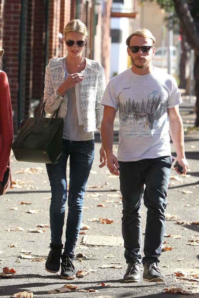 Rosie Huntington-Whiteley stepped out with a male friend in Sydney on May 22.
