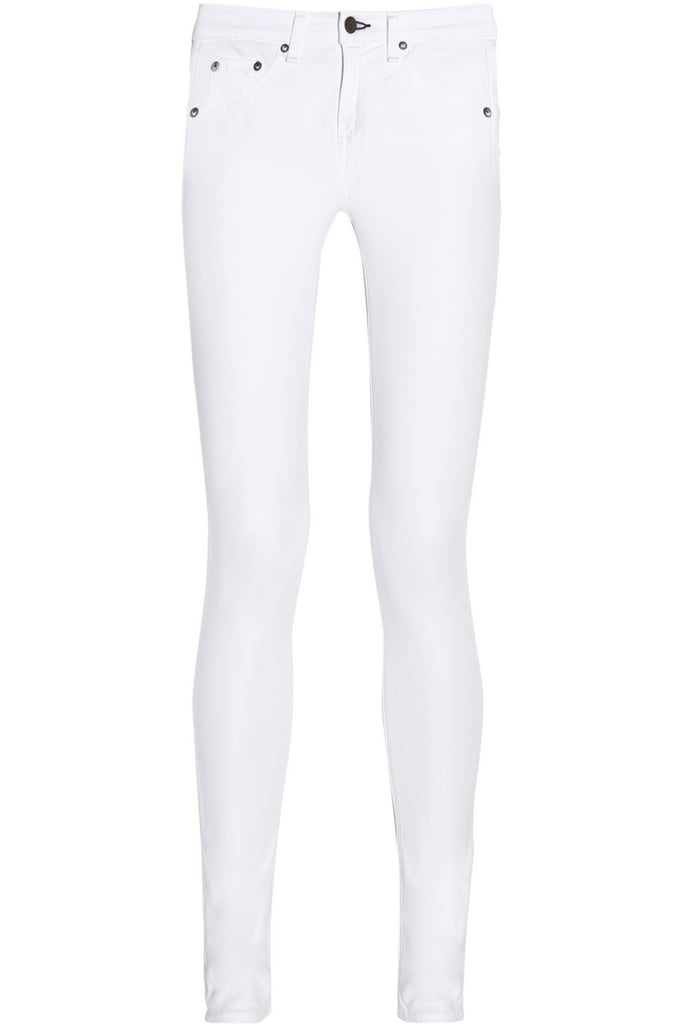 No Summer wardrobe is complete without a perfect pair of white jeans. After a fairly exhaustive search, I've decided that this slim pair from Rag & Bone JEAN ($187) is the platonic ideal. They are opaque under any light (even unflattering dressing room fluorescents) and stretchy without pulling and hit just the right spot above the ankle.  — MLG