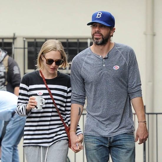 Amanda Seyfried and Thomas Sadoski hold hands after voting in LA