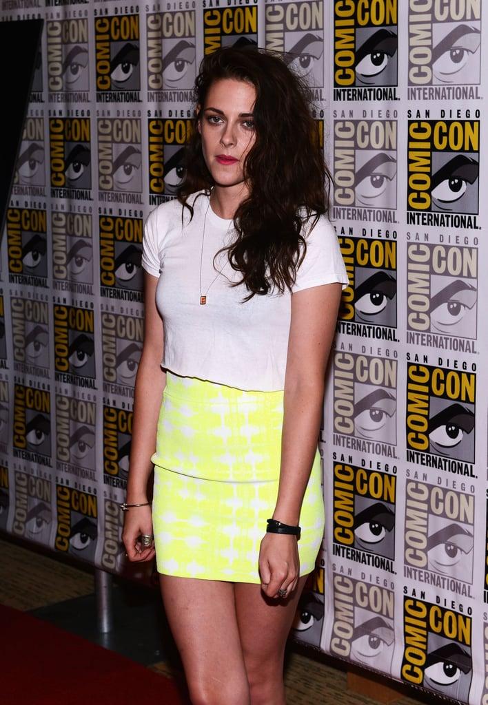 Kristen Stewart wore a crop top.