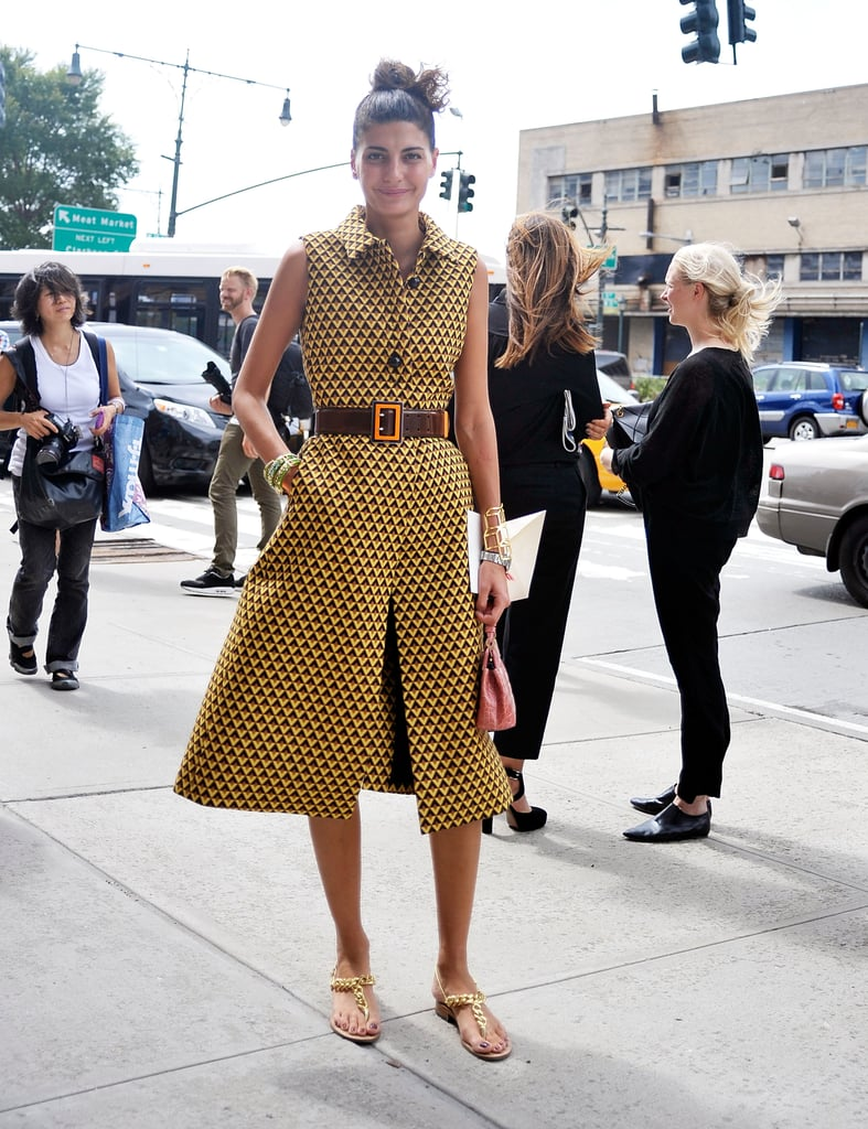 Giovanna Battaglia worked an all-over print and a ladylike silhouette.
