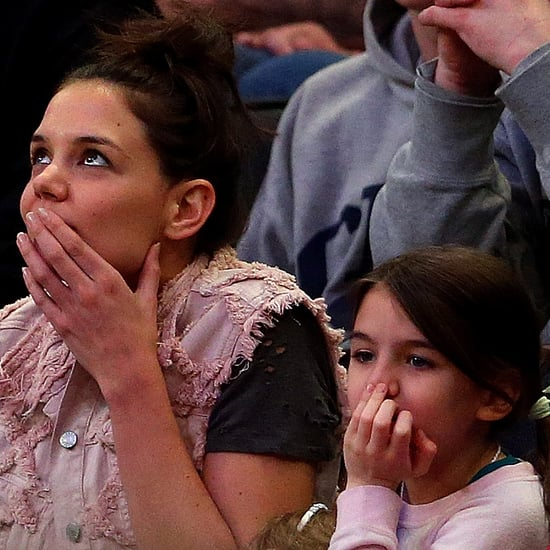 Katie Holmes and Suri Cruise at March Madness
