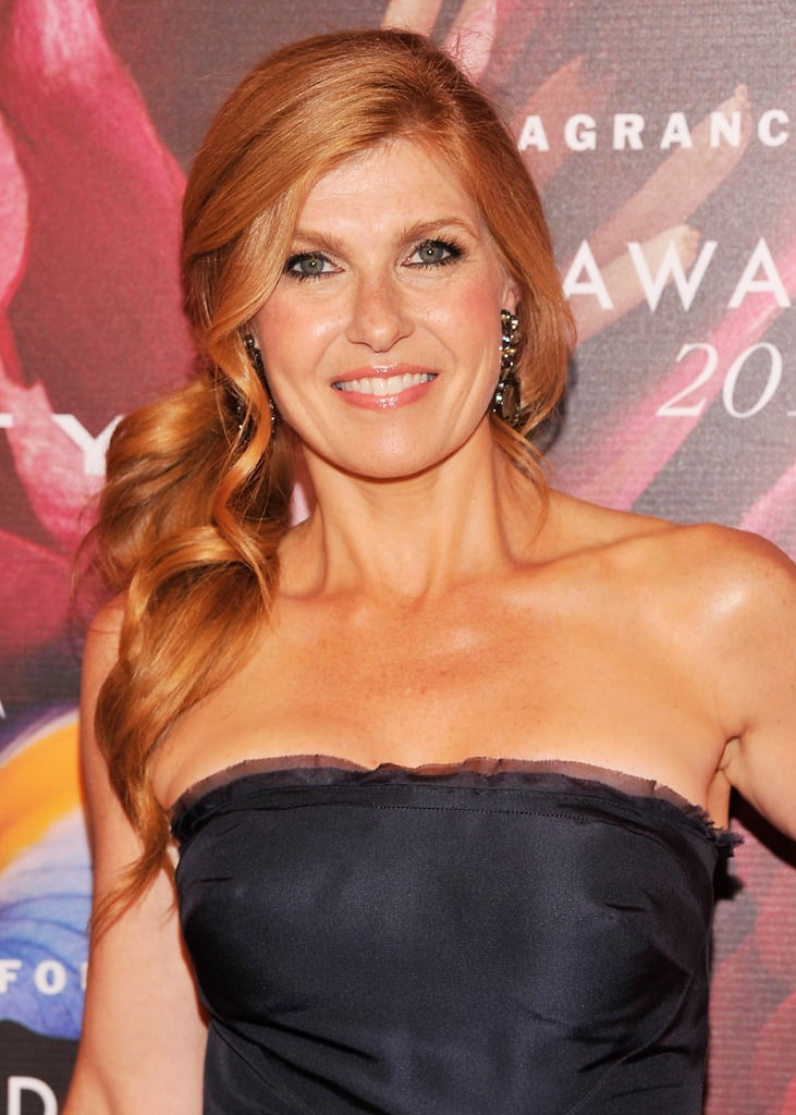 Connie Britton attended the FiFi Awards wearing a flowing, sideswept ponytail.