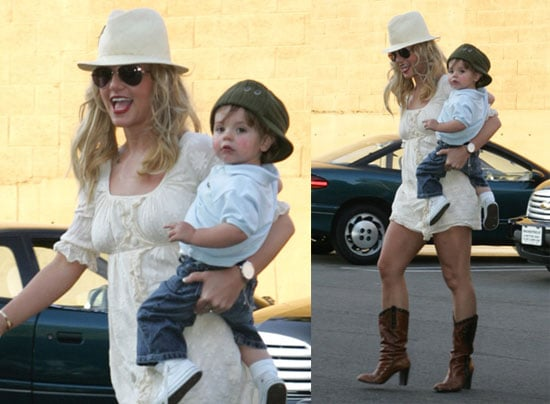 Britney Likes Her Boys in Off-Kilter Hats
