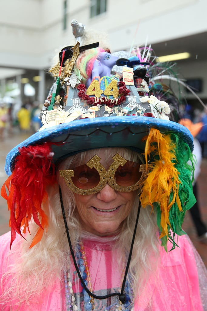 This lady's 2013 hat looks pretty wild.