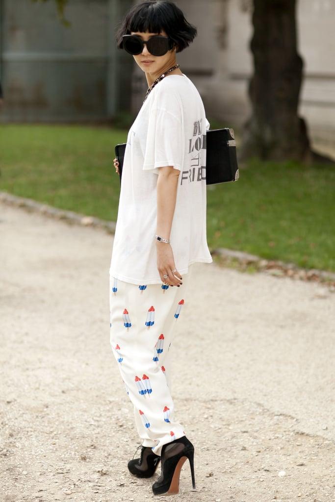 Pants that pop.