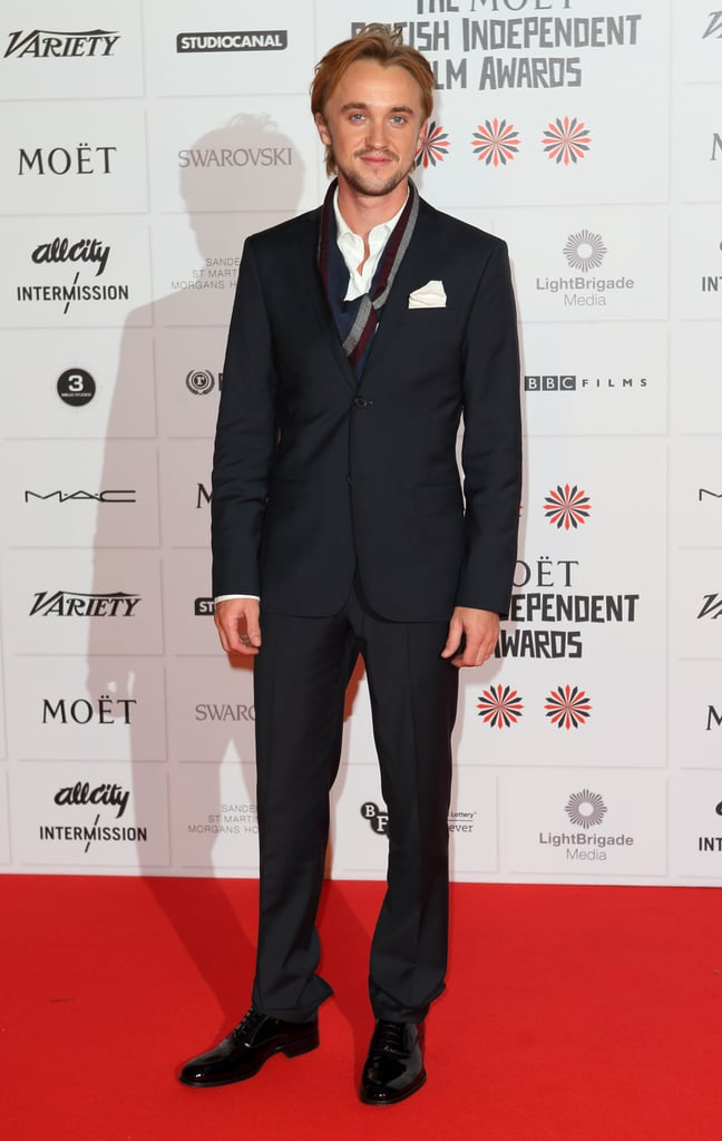 Tom Felton posed on the red carpet at the BIFAs.